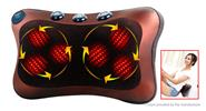 Buy Multifunction Car Home Cervical Neck Back Body Waist Massage Pillow Cushion 6 Heads, Brown, 2-Flat-Pin
