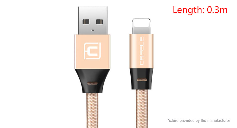 Product Image: cafele-8-pin-to-usb-2-0-data-sync-charging-cable