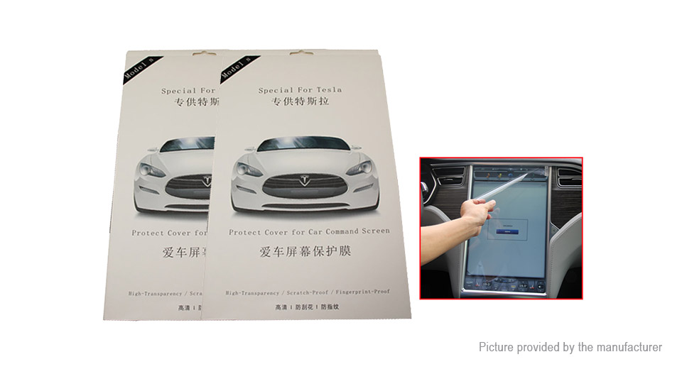 PET Screen Protector for Tesla Model S / X 17 Touch Screen (2-Pack)