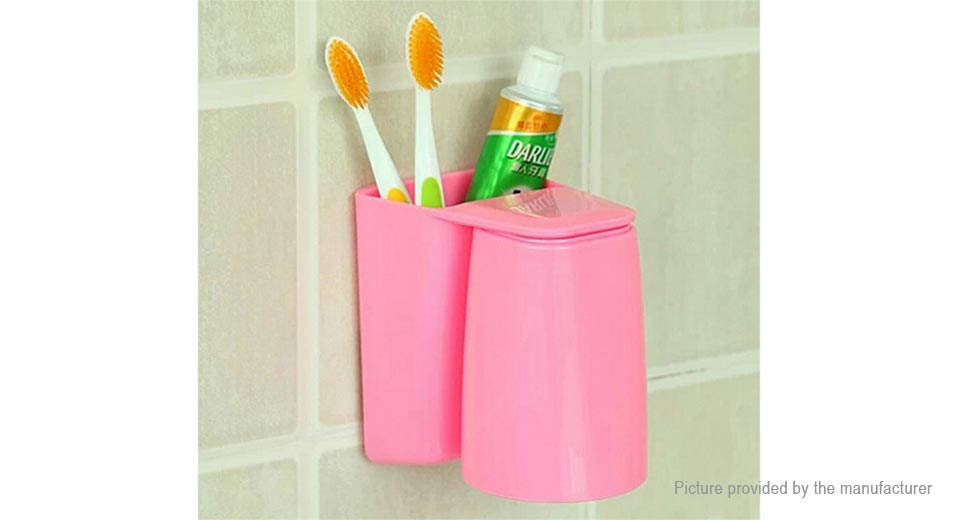 Magnetic Toothbrush Toothpaste Holder Rinse Cup Set