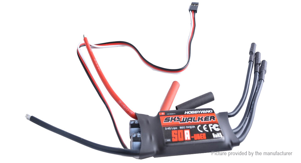 Authentic HOBBYWING SkyWalker 50A UBEC Brushless ESC Controller