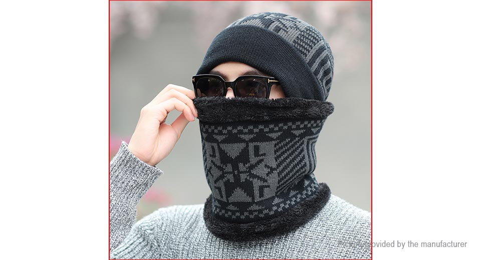 Product Image: men-s-winter-warm-fleece-lined-knitted-beanie-cap
