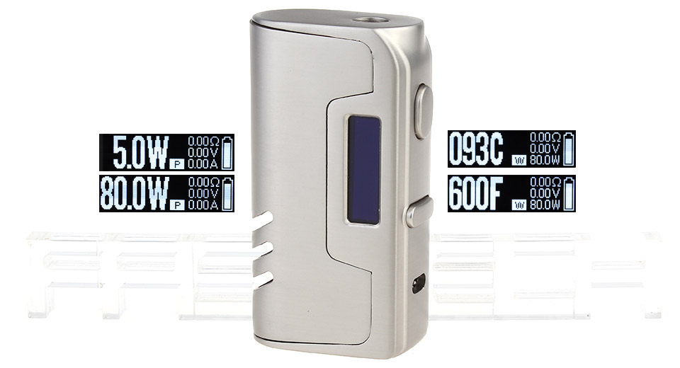 Authentic VapeCige SD Nano 80W TC VW APV Mod, SD Nano 80W, Zinc Alloy, SS Color