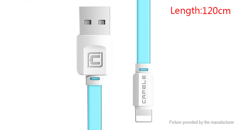 Product Image: cafele-8-pin-to-usb-2-0-flat-data-sync-charging