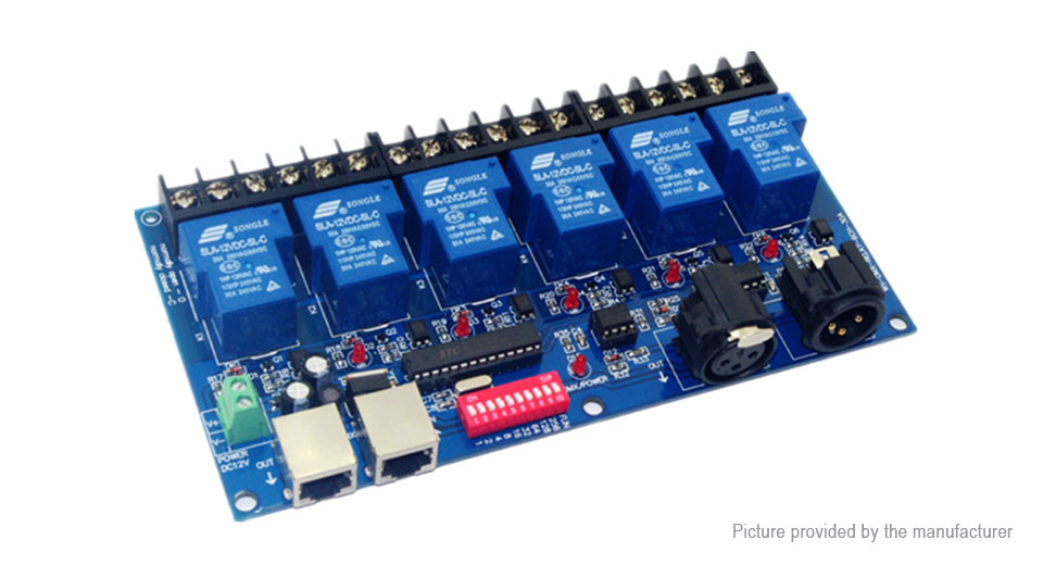 Product Image: dc-12v-6-ch-dmx512-led-decoder-relay-controller