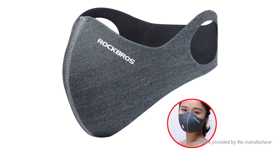 Authentic ROCKBROS Outdoor Cycling Anti Haze PM2.5 Half Face Mask