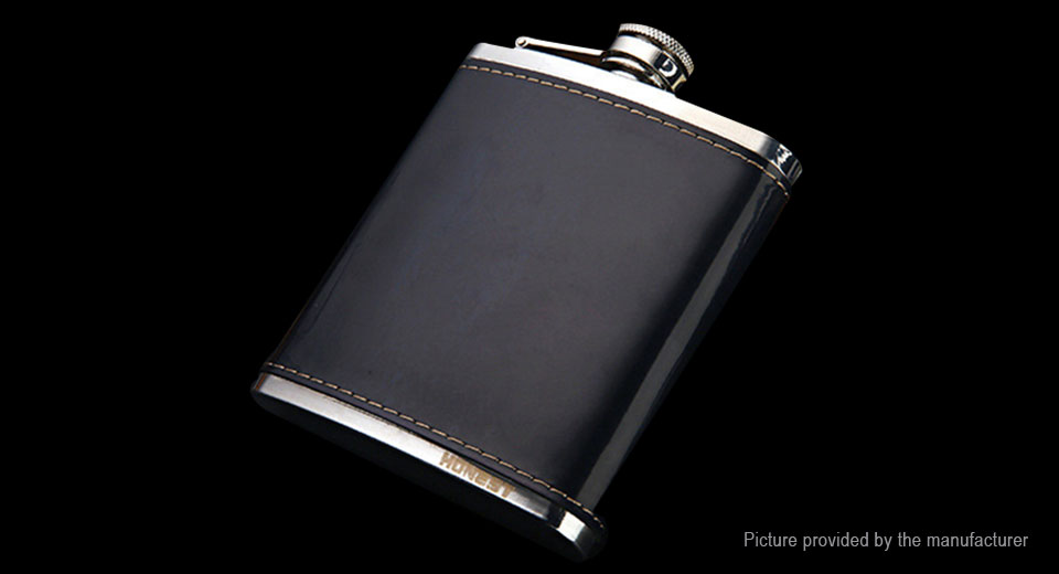 Honest Portable 304 Stainless Steel Whiskey Hip Flask Flagon Wine Pot ( 7oz)