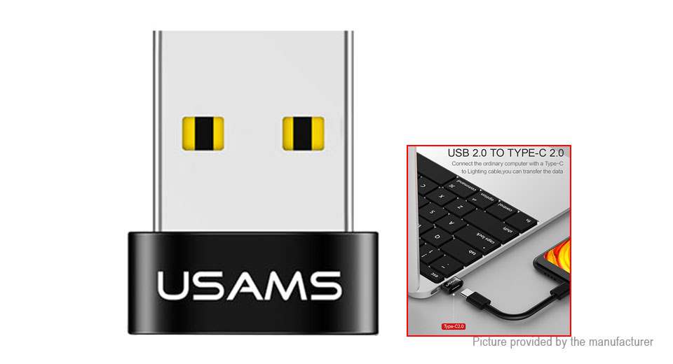 Authentic USAMS US-SJ173 USB 2.0 to USB-C Converter Adapter