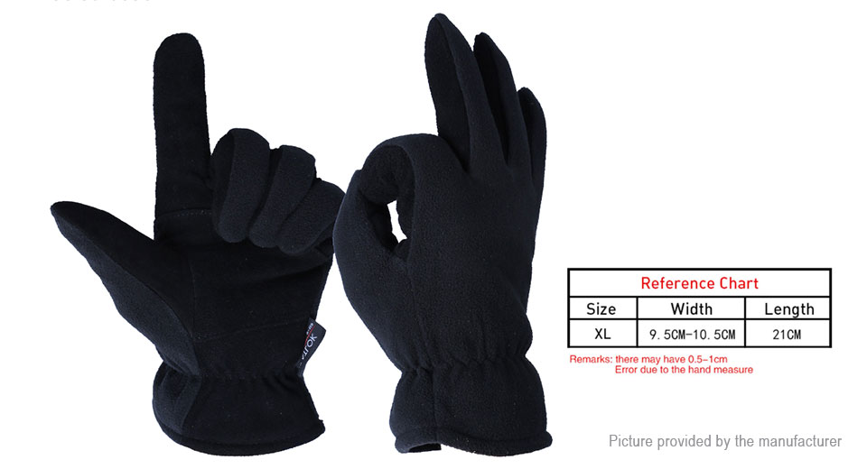 OZERO Outdoor Working Security Protection Full Finger Gloves (Size XL/Pair)
