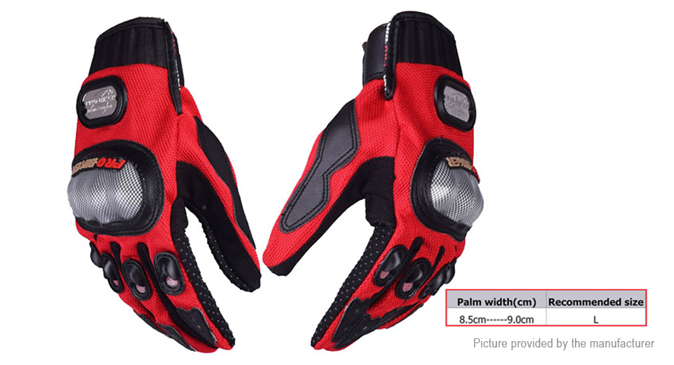 PRO-BIKER MCS-01A Motorcycle Skiing Racing Full Finger Gloves (Size L/Pair)