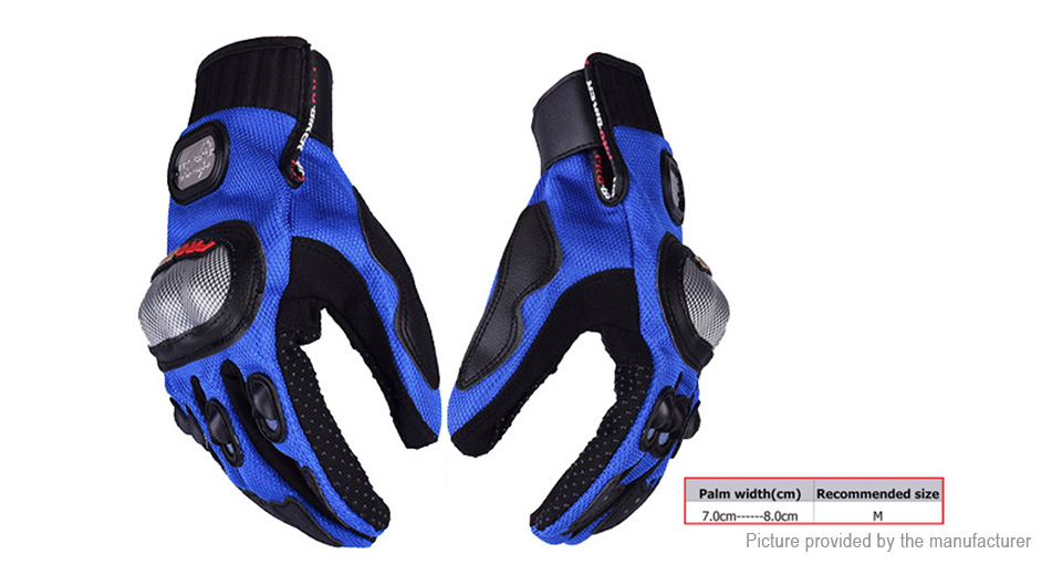 PRO-BIKER MCS-01A Motorcycle Skiing Racing Full Finger Gloves (Size M/Pair)