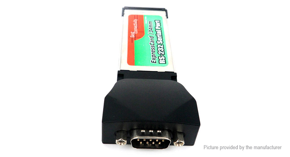RS232 DB9 Serial I/O Port to PCMCIA Express Card Laptop PC Notebook Adapter RS232 to PCMCIA, F-M