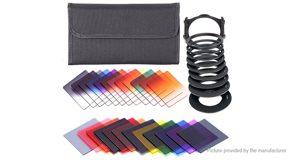 Full ND Lens Filter + Graduated ND Lens Filter Kit (24 Pieces)