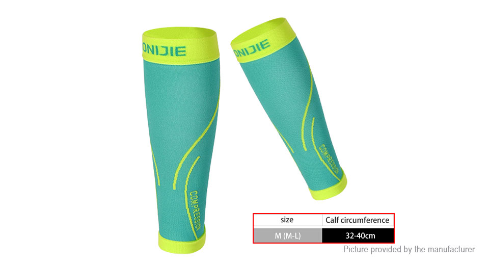 AONIJIE Sports Elastic Calf Guard Compression Knee Sleeve Support (Size M/L/Pair)