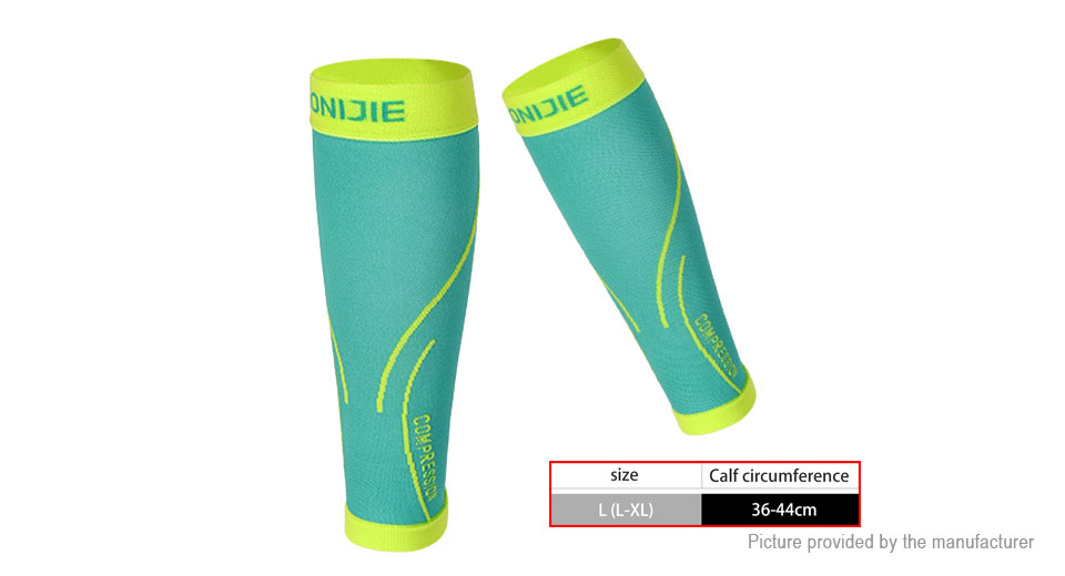 AONIJIE Sports Elastic Calf Guard Compression Knee Sleeve Support (Size L/XL/Pair)