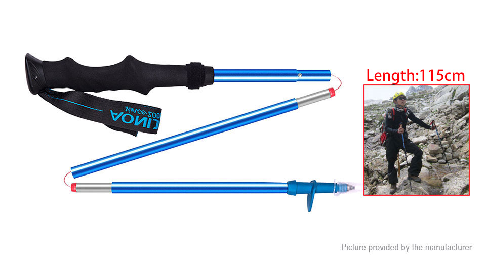 AONIJIE Z-shaped Adjustable Folding Trekking Pole Hiking Climbing Alpenstock