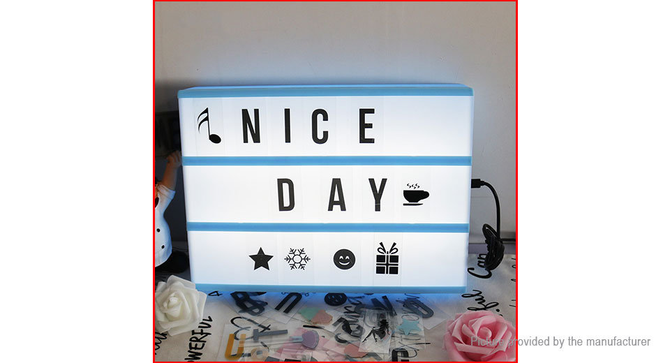 LED DIY Letters Cinematic Light Box Wedding Party Gift