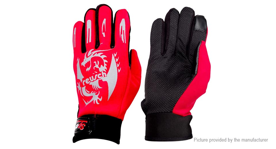 Outdoor Cycling Touch Screen Winter Warm Full Finger Gloves
