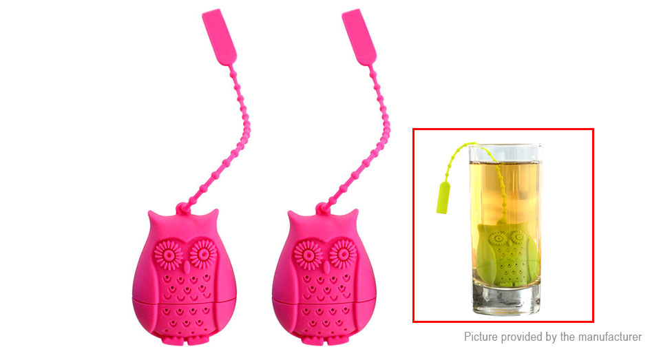 Owl Styled Silicone Tea Strainer Filter (2-Pack)