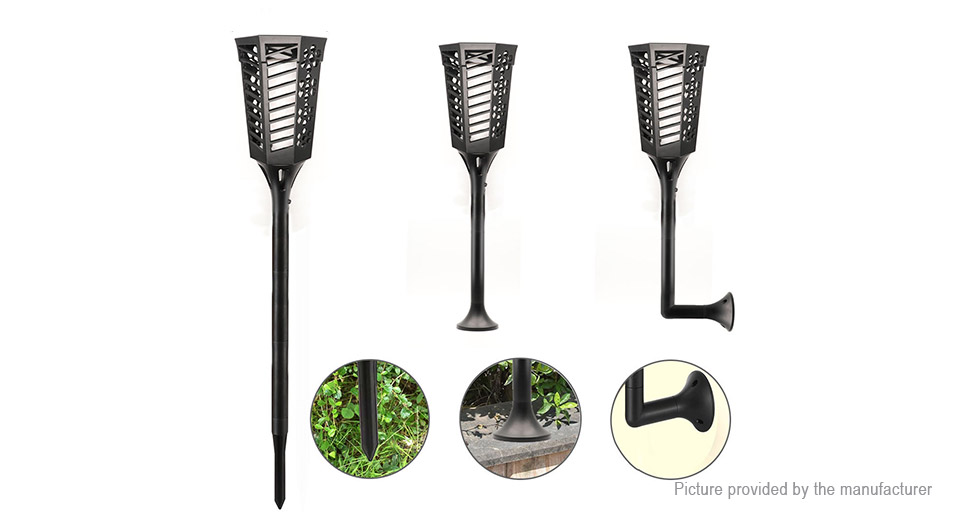 Solar Powered LED Lawn Lamp Flame Light