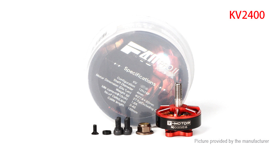 T-Motor F40 PRO II 2400KV Brushless Motor for R/C Multirotor FPV Racing Drone F40 PRO II 2400KV, Red