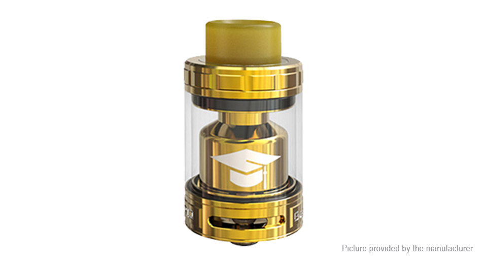 Authentic EHpro Bachelor X RTA Rebuildable Tank Atomizer Bachelor X, SS + Glass, Gold