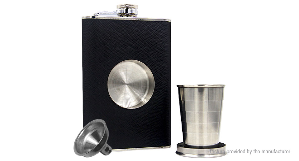 Portable 8oz Stainless Steel Hip Flask Flagon Wine Pot Bottle