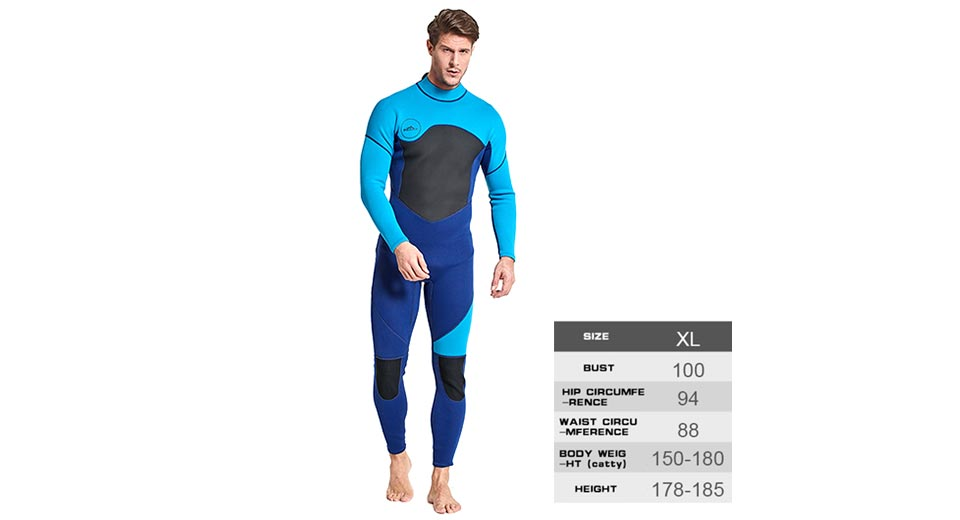 Product Image: sbart-men-s-one-piece-3mm-diving-suit-long-sleeve
