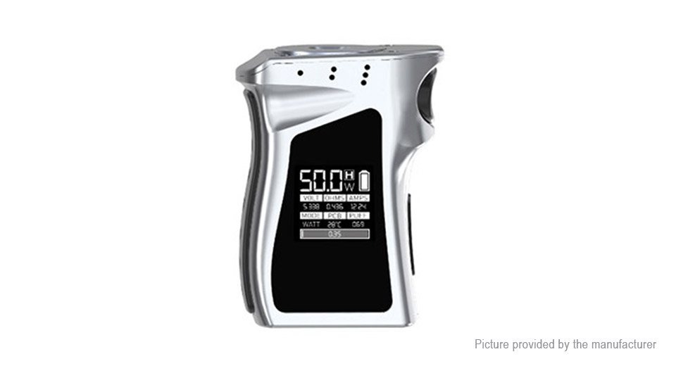 Authentic Smoktech SMOK Mag Baby 50W TC VW APV Box Mod Mag Baby 50W VW/TC Mod, Silver Black