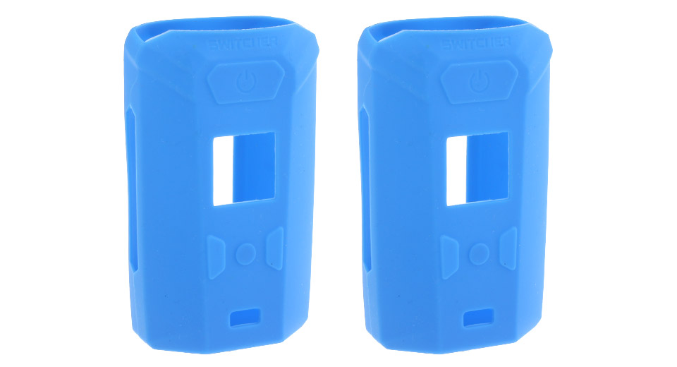 Protective Silicone Sleeve Case for Vaporesso Switcher 220W Mod (2-Pack) Blue, 2-Pack