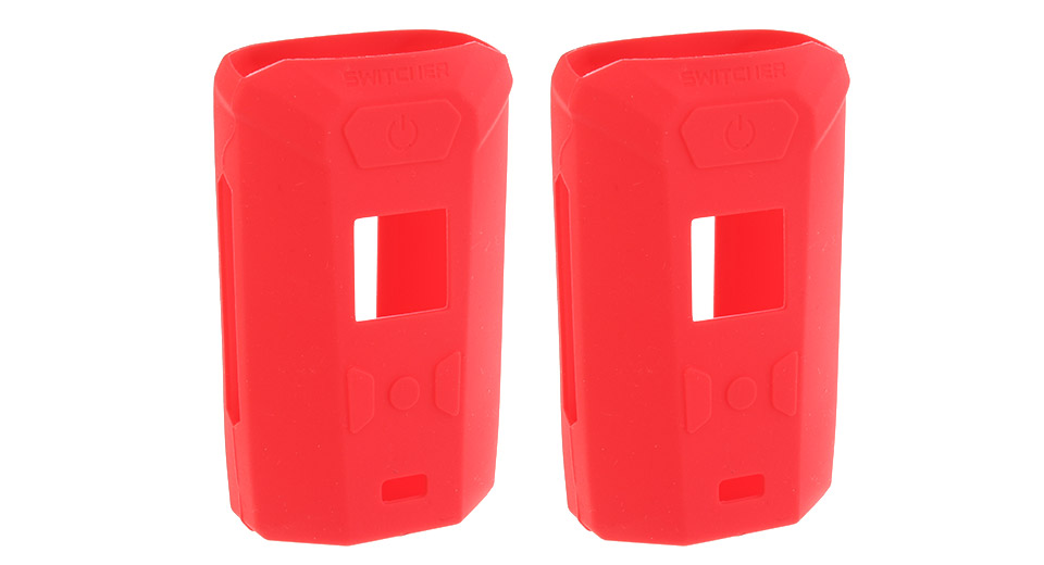 Protective Silicone Sleeve Case for Vaporesso Switcher 220W Mod (2-Pack) Red, 2-Pack