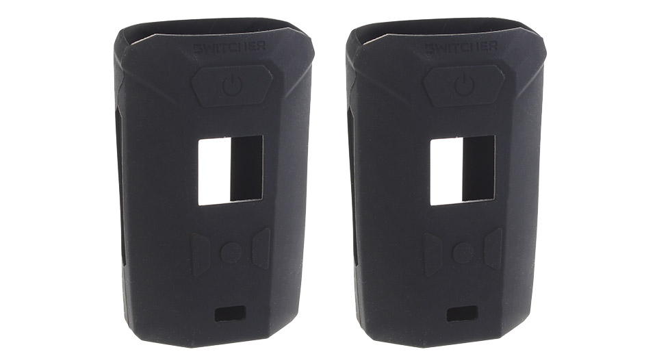 Protective Silicone Sleeve Case for Vaporesso Switcher 220W Mod (2-Pack) Black, 2-Pack