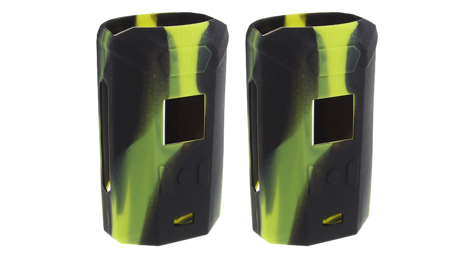 Protective Silicone Sleeve Case for Vaporesso Switcher 220W Mod (2-Pack) Green + Black, 2-Pack