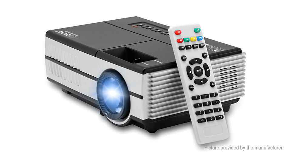 EUG Portable LED Projector 3D Home Theather (US)