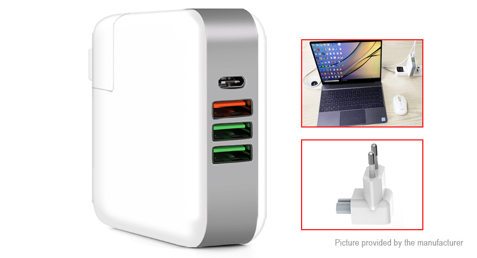 Product Image: kp-4upd-4-port-usb-wall-charger-power-adapter-eu