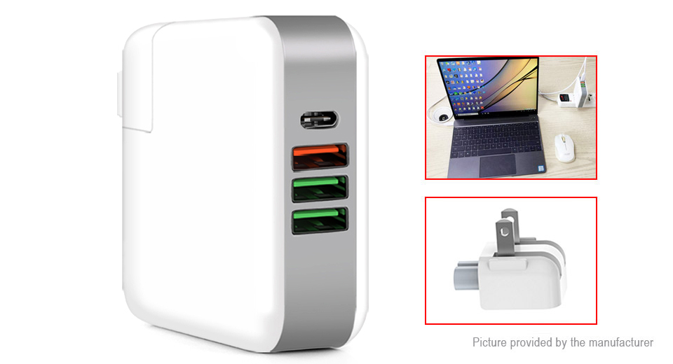 KP-4UPD 4-Port USB Wall Charger Power Adapter (US)