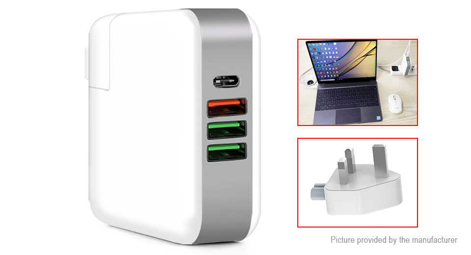 KP-4UPD 4-Port USB Wall Charger Power Adapter (UK)