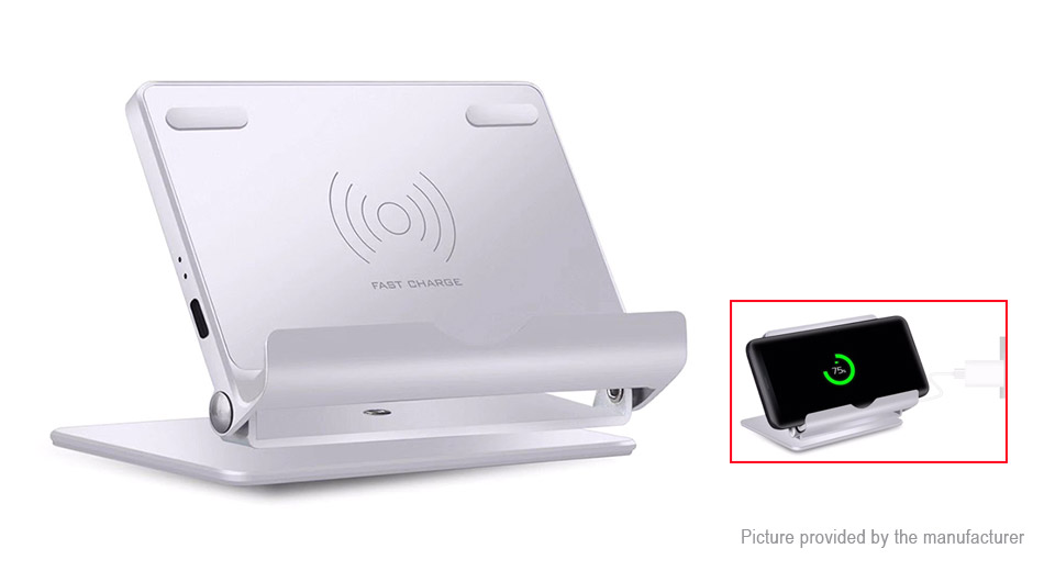 FL-8 Qi Inductive Wireless Charger Transmitter Folding Holder Stand