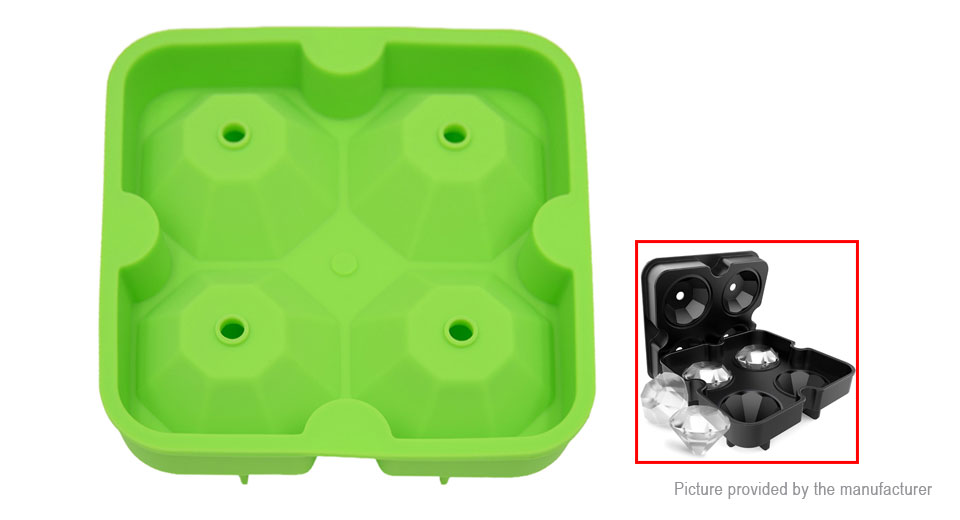 Diamond Styled Silicone DIY Ice Cube Tray Mold