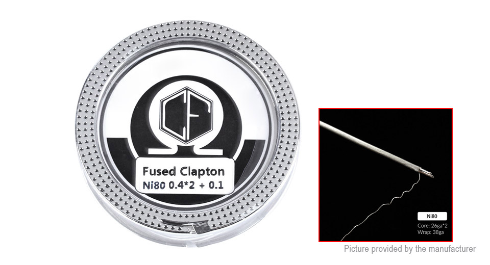 Coil Father Ni80 Fused Clapton Heating Wire, Ni80 (fused clapton), 26*2/38 AWG, 5m