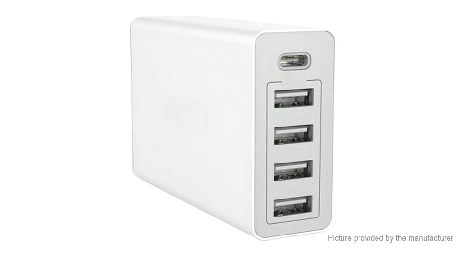 XBX-09C 5-Port USB Wall Charger Power Adapter (UK)