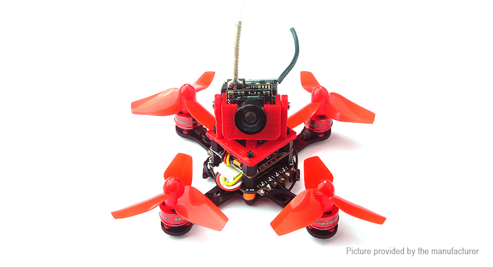 Happymodel Trainer66 FPV Drone R/C Quadcopter (BNF, Flysky Receiver), Trainer66, Red, BNF (w/ Flysky Receiver)