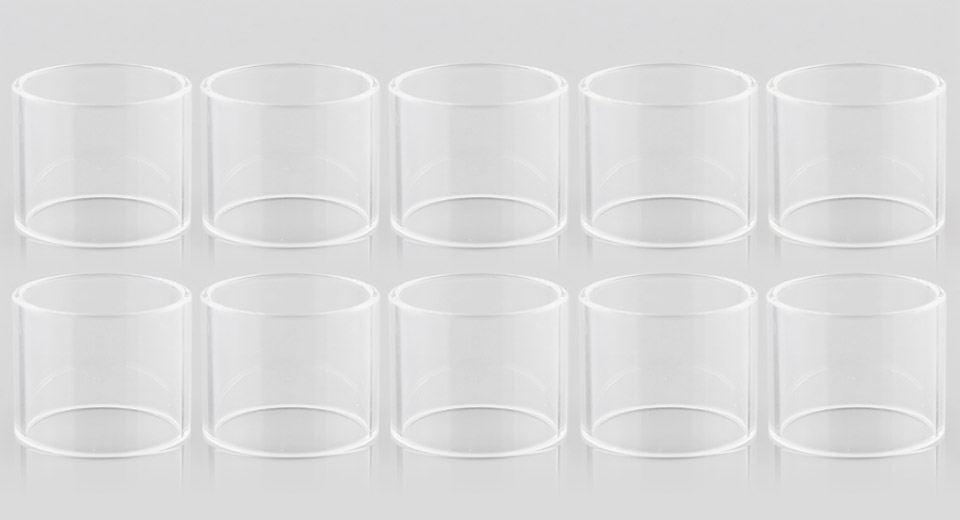 Replacement Glass Tank for Eleaf ELLO Tank Clearomizer (10-Pack)