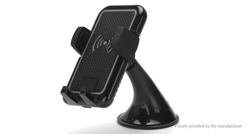 Qi Inductive Wireless Charger Car Suction Cup Cell Phone Holder Stand