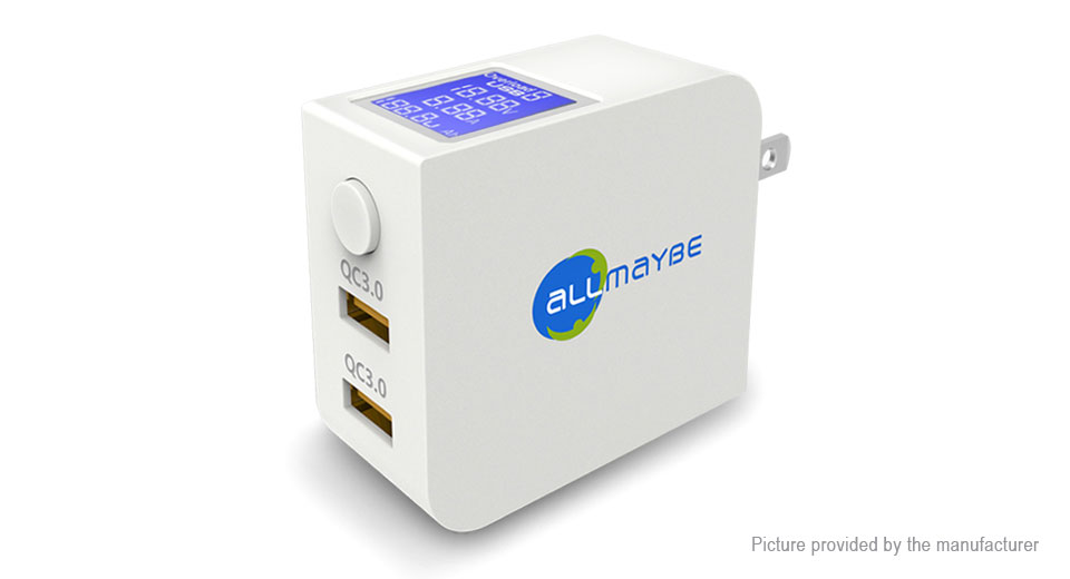 ALLMAYBE Dual USB Travel Charger Power Adapter (US)