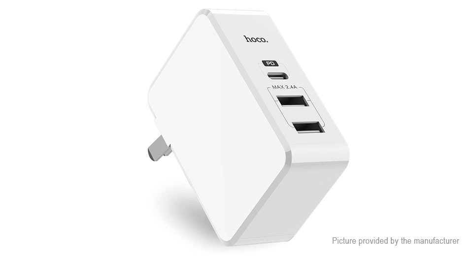 Authentic hoco C32 3-Port USB Wall Charger Power Adapter (US)