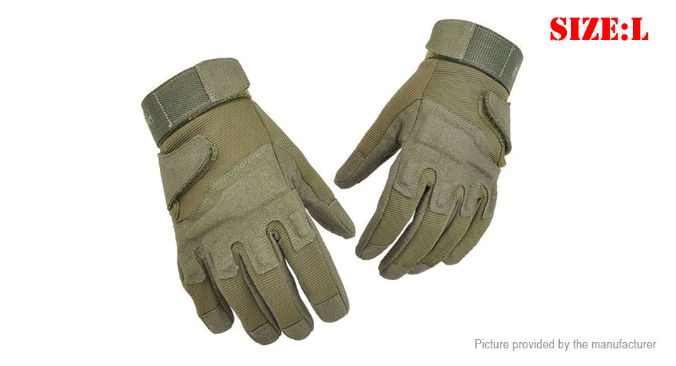 Outdoor Tactical Motorcycle Bicycle Airsoft Protective Full Finger Gloves (Size L/Pair)