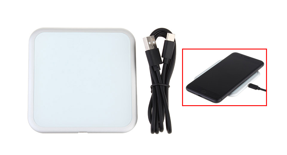 H1 Square Shaped Qi Inductive Wireless Charging Pad