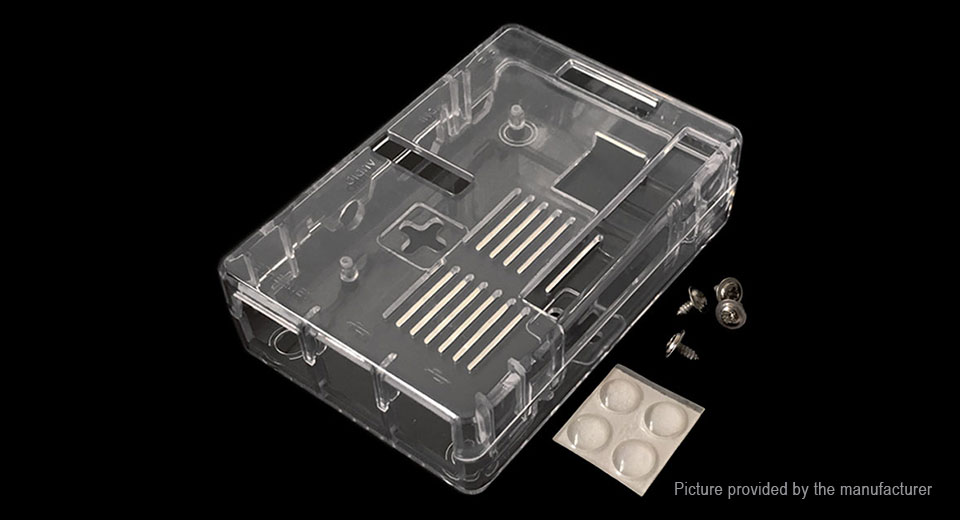 Protective Acrylic Shell Case for Raspberry Pi 3 Model B+, Raspberry Pi 3B+, Shell Case, Translucent
