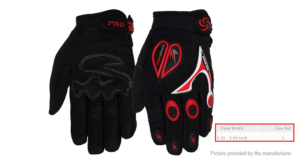 PRO-BIKER CE-06 Full Finger Bicycle Motorcycle Racing Gloves (Size L/Pair)
